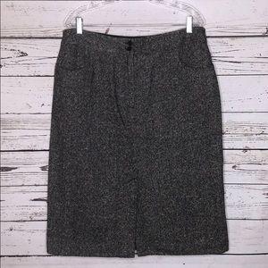 Talbots 16 Multi-Color Tweed Wool Pencil Skirt